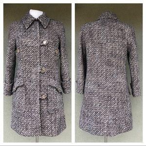 Chanel FW 2001 wool boucle knit coat